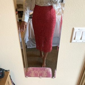 Zara lace midi skirt size small